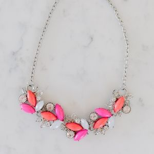 Jewelry - Pink and Orange Statement Necklace